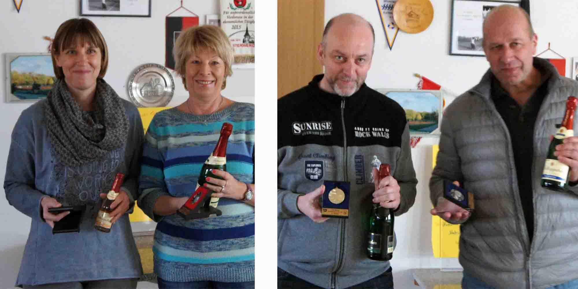 v.l.n.r.: Katrin Rakette (Halle), Birgit Schneiderhan (Elsterwerda), Torsten Munke (Dresden) sowie Steffen Rakette (Halle)